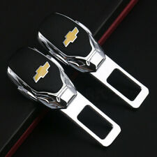 2x Universal Alloy Car Safety Seat Belt Plug Clip Interior for Chevrolet