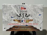 2016 TOPPS TIER ONE BASEBALL FACTORY SEALED HOBBY BOX HTF