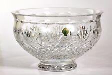 """-Waterford Killarney fine Irish crystal 1-bowl 10""""diameter 6""""tall new hand cut"""