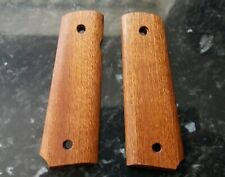 CUSTOM  SAPELE WOOD GRIPS TO FIT COLT SWISS ARMS P1911 etc