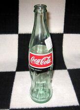 COCA-COLA SODA POP BOTTLE OPENED RED COKE REFRESCO 355 ML GLASS 2002 MEXICO