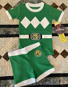 Green Power Ranger Pajamas Set Toddler 3T Boys Or Girls, Tight Fit, Short Sleeve