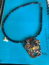 WHITE SHARK TOOTH NECKLACE  SURFER STYLE WITH BEADS