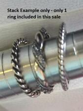 STERLING SILVER solid 925 Stack Stacking Ring Band Rope Twist Size 6 7 8
