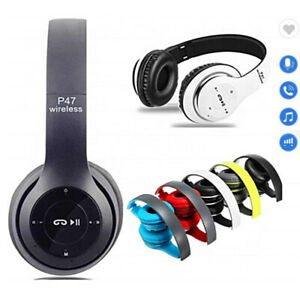 Wireless Bluetooth Headphones with Noise Cancelling Over-Ear Earphones Phone