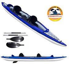 New! Aquaglide Columbia XP Tandem XL15-ft Inflatable Kayak with 2 Kayak Paddles