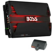 Boss 3700W 5 Channel Car Audio Amplifier Power LED Amp with Remote (4 Pack)