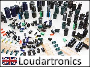 Assortment Selection Mix Job Lot 50 Various Aluminium Electrolytic Capacitors