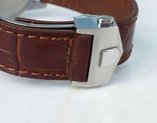 22mm BROWN COLOR Monaco Band Strap Alligator-Style w/Clasp for TAG Heuer
