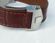 22mm BROWN COLOR Band Strap Alligator-Style with Deployment Clasp for TAG Heuer