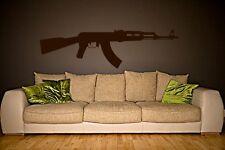 Stunning iconic Kalashnikov AK47 feature wall theme wall stickers hardwearing