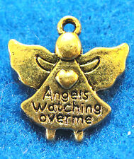 "10Pcs. Tibetan Antique Gold ""ANGELS Watching Over Me"" Charms Pendants Drops AF58"