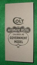 Original Instruction Box Manual Colt 1911 45 Automatic Pistol M-50-R 1917-18