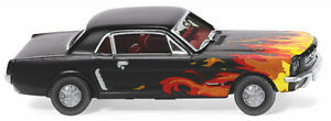 Wiking 020503 - 1/87 Ford MUSTANG Coupè - Nero Con Fallemdekor - Nuovo