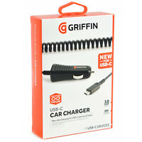 Genuine Griffin USB Type C 3Amp In-Car Charger For Samsung Galaxy Note 8/S8/S8+