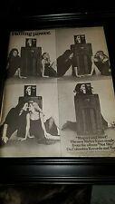 Walter Egan Magnet And Steel Rare Original Promo Poster Ad Framed!