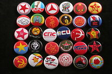 World Communist Socialist Party Solidarity Lot 30 Button Badge Pin Political Set