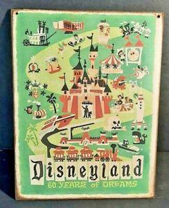 DISNEYLAND 60 years of Dreams Handmade Disney World vintage sign