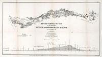 1866 Map Honduras Inter-oceanic Railway Vintage History Wall Art Poster Decor