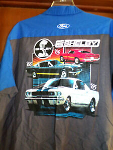 Shelby Mustang's Mechanic~Shop Shirt Short Sleeve Size: 4XL Used/recycled Cobra