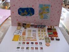 Puppenhaus Schreibtisch& Büro  Zubehör  1:12 & Wandkarten
