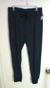 Open Trails Men's Navy Blue w/ Gray Print Lounge Pants - Elastic Waist - Size: L