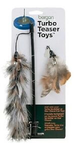 Bergan Teaser Cat Toy, Contains Natural Feathers & Ball Attached