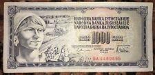 JUGOSLAVIA 1000 DINAR DINARA 1978 BANCONOTA MOLTO RARA DA COLLEZIONE