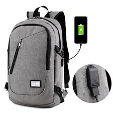 Fashion Anti-theft USB Charger Port Backpack Laptop Notebook School Bag Pack Lot