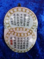 Schöner Anhänger__altes Porzellan bemalt__gefasst in 925 Silber__China__7cm_