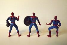 3 Die Cast Spider-Man Poseable Miniature Action Figures Marvel 2003 3""