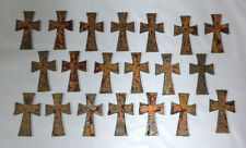 Lot of 20 Rusty Crosses 2.5 in Metal Wall Art Stencil Ornament Craft Magnet