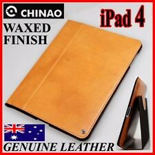 CHINAO HiEnd Waxed Genuine Leather Case Pouch Cover For New iPad 2/3/4 retina BR
