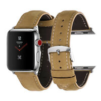 For Apple Watch Band Leather Strap 38/40/42/44mm Adapter Series1/2/3/4 iWatch