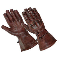 Gallanto Red Motorcycle Armoured Thinsulate Leather Winter Gloves Motorbike