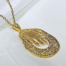 Fashion Jewelry Luxury Necklace Pendant P3216 18K Yellow Gold Filled Cz Women