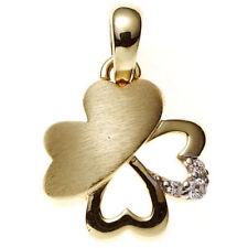 Natürliche Echtschmuck-Halsketten & -Anhänger aus Gelbgold Zirkon