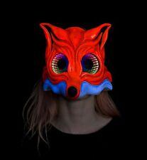 FOX UV LED SPECCHIO INFINITO Maschera, Maschera LED, Burning Man Maschera, Maschera Rave