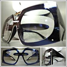 OVERSIZED VINTAGE RETRO Style Clear Lens EYE GLASSES Large Black Fashion Frame
