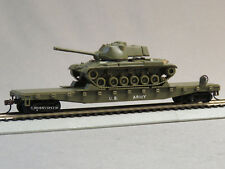 MRC MODEL POWER MISSILE FORCE M47 TANK & FLATCAR HO GAUGE train from set 1068-F