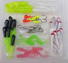 hook Fishing Bait soft 40 soft lure 10 Jig head lure maggots Grub worm Silicone
