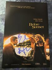 Gfa Ethan Hawke & Linklater * Before Sunset * Signed 12x18 Photo Poster Ad1 Coa