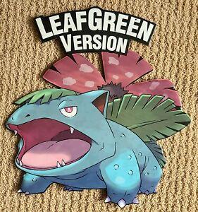 Original 2004 Pokemon LeafGreen Hanging Foamboard Venusaur Standee Nintendo GBA