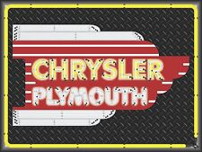 CHRYSLER PLYMOUTH DEALER MARQUEE NEON STYLE PRINTED BANNER SIGN ART 4' X 3'