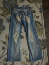 MISS SIXTY DIRTY Italy Women PERKINS Boot Cut Boyfriend Jeans Sz 27-USA SELLER