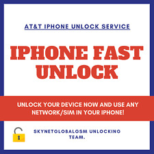 iPhone NETWORK UNLOCKING SERVICE for AT&T iPhone 6 6s 7 PLUS X XR XS MAX ALL