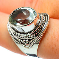 Green Amethyst 925 Sterling Silver Ring Size 9 Ana Co Jewelry R32787F