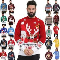 New Mens Womens Christmas Jumper Unisex Ladies Xmas Knitted Sweater Novelty 2019