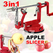3 In1 Red Kitchen Tool Apple Peeler Slinky Machine Fruit Cutter Slicer Corer AU