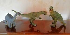 Dinosauri Papo T-Rex e Schleich Allosauro vintage 2008